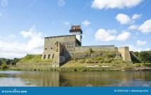 Kasteel In Narva Estland Stock Foto. Afbeelding Bestaande