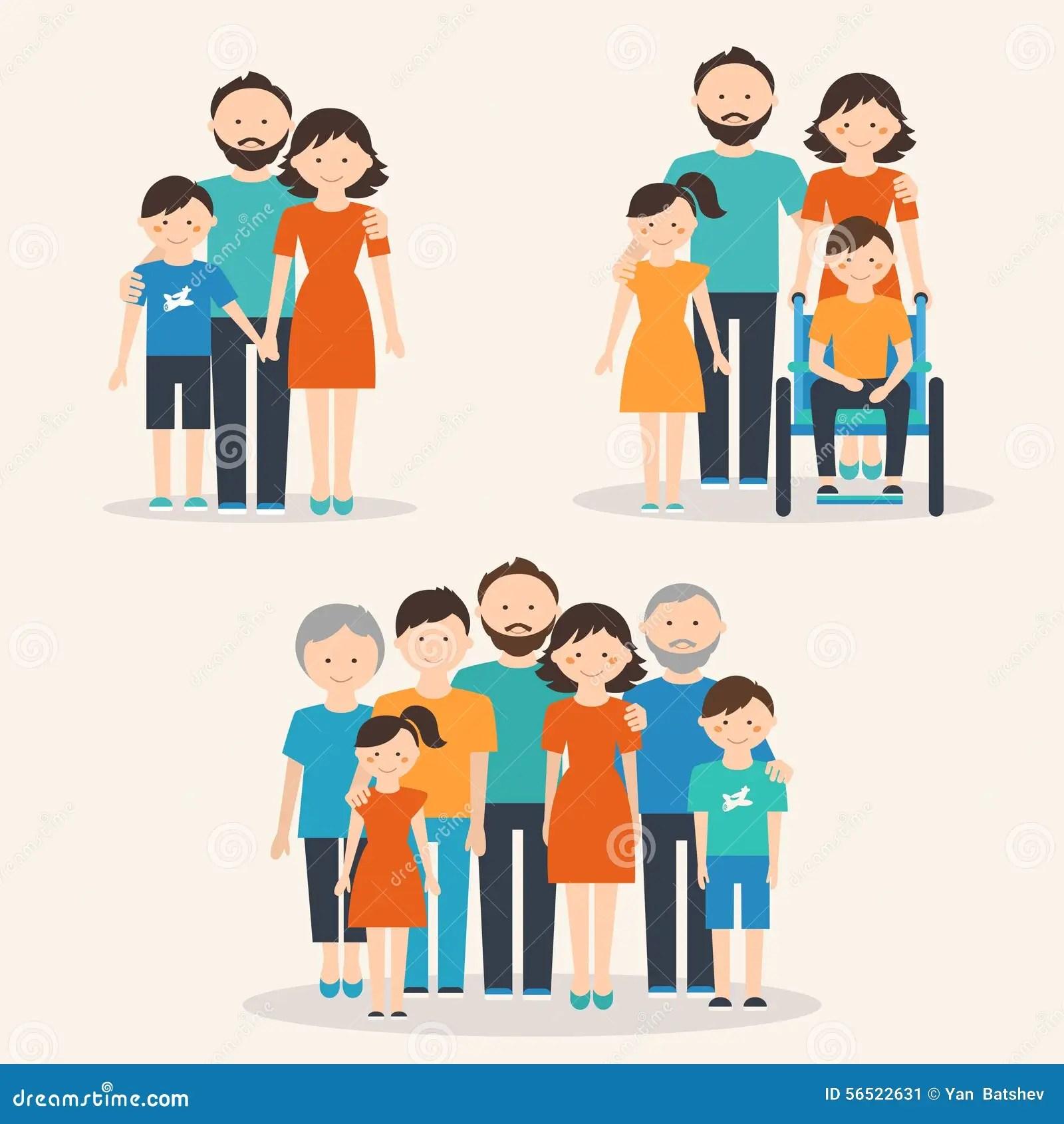 Kernfamilie Familie Mit Special Benotigt Kind Und