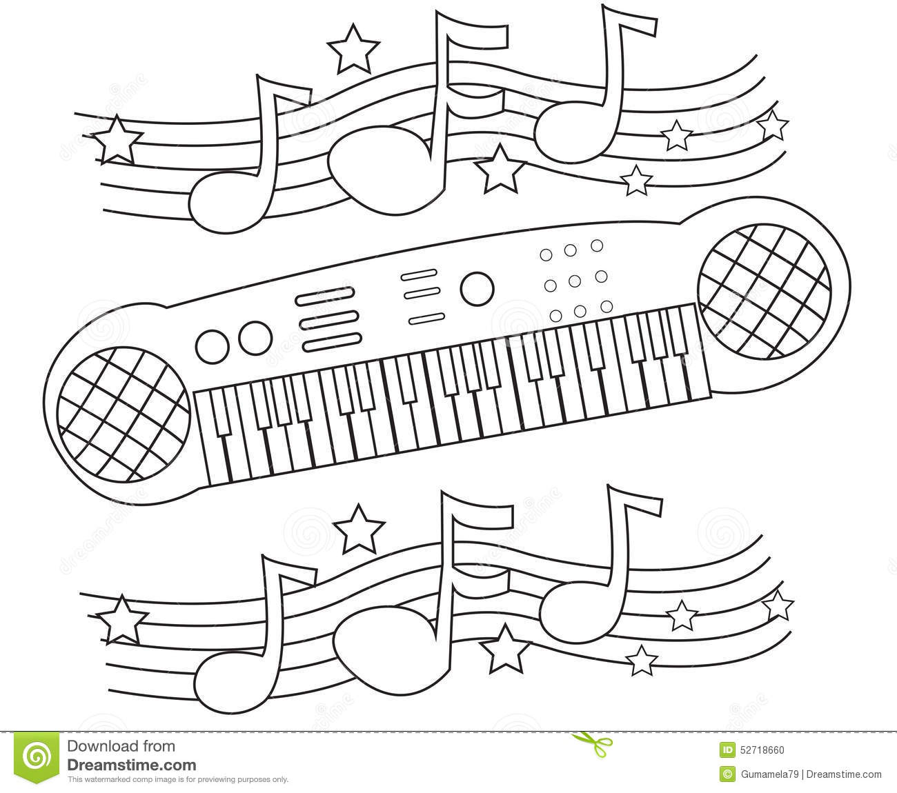 Coloring 3d Keyboard Coloring Pages