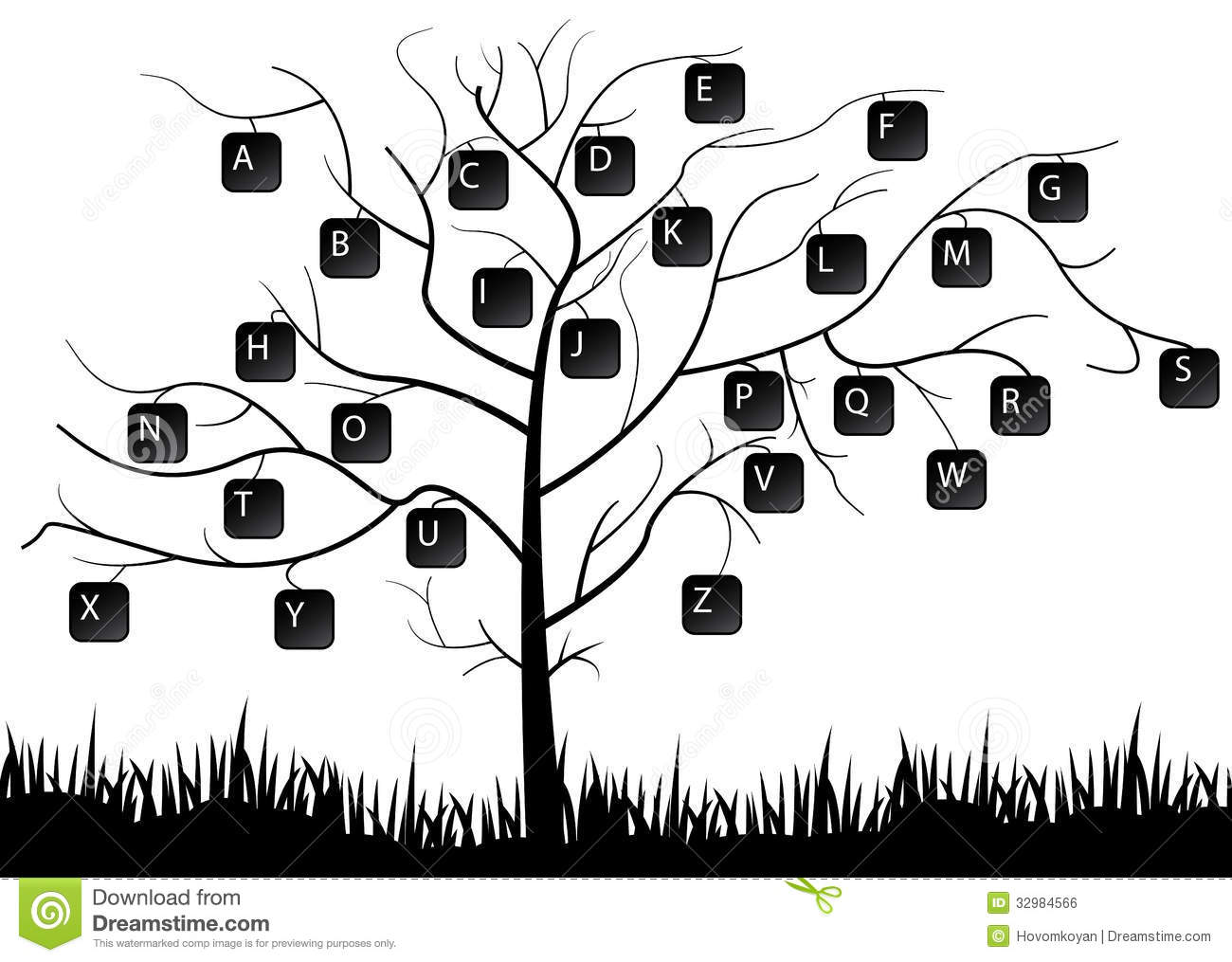Keyboard Tree Royalty Free Stock Image