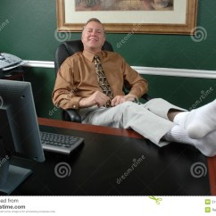 Xl Desk Chair Wood Log Chairs Kicking Back Stock Image. Image Of Propped, Machine, Computer - 513675