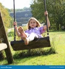 Kid - Girl Swing Stock Of Happiness Feet