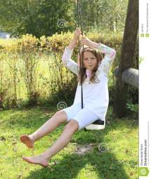 Kid - Girl Swing Stock Of Nice