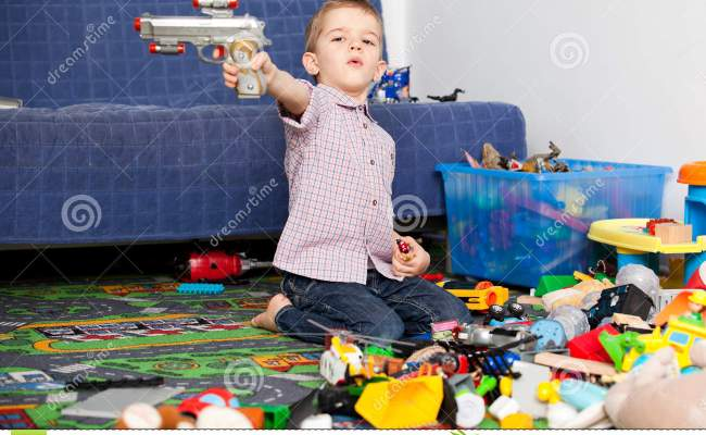 Kid At Home Playing Stock Image Image Of Little Jeans