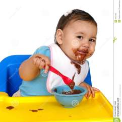 3 In One High Chair Plans Foam For Chairs Kid Messy Face Stock Image. Image Of Look, Bowl, Spoon - 18177267