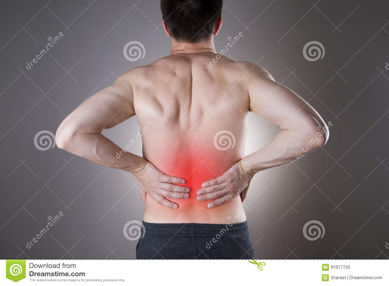 Kidney Pain Man With Backache Pain In The Mans Body