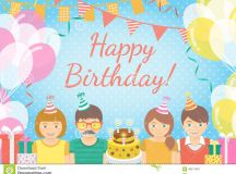 Kids Birthday Party Background Stock Vector - Image: 49271847