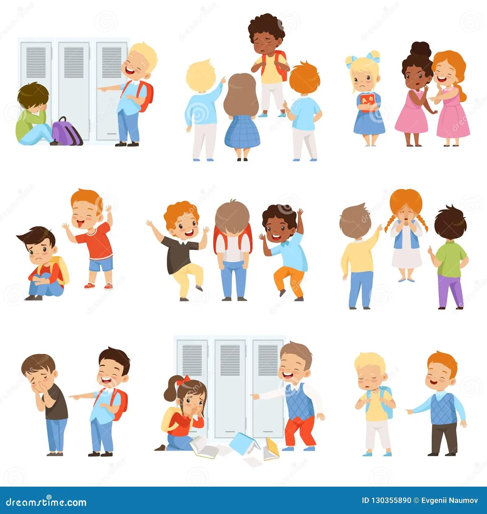Kids Bullying The Weaks Set Bad Behavior Conflict