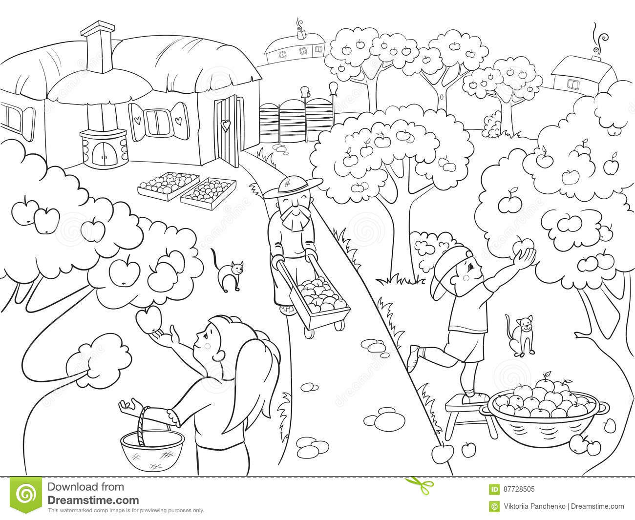 Coloring Kwanzaa Harvest Coloring Pages