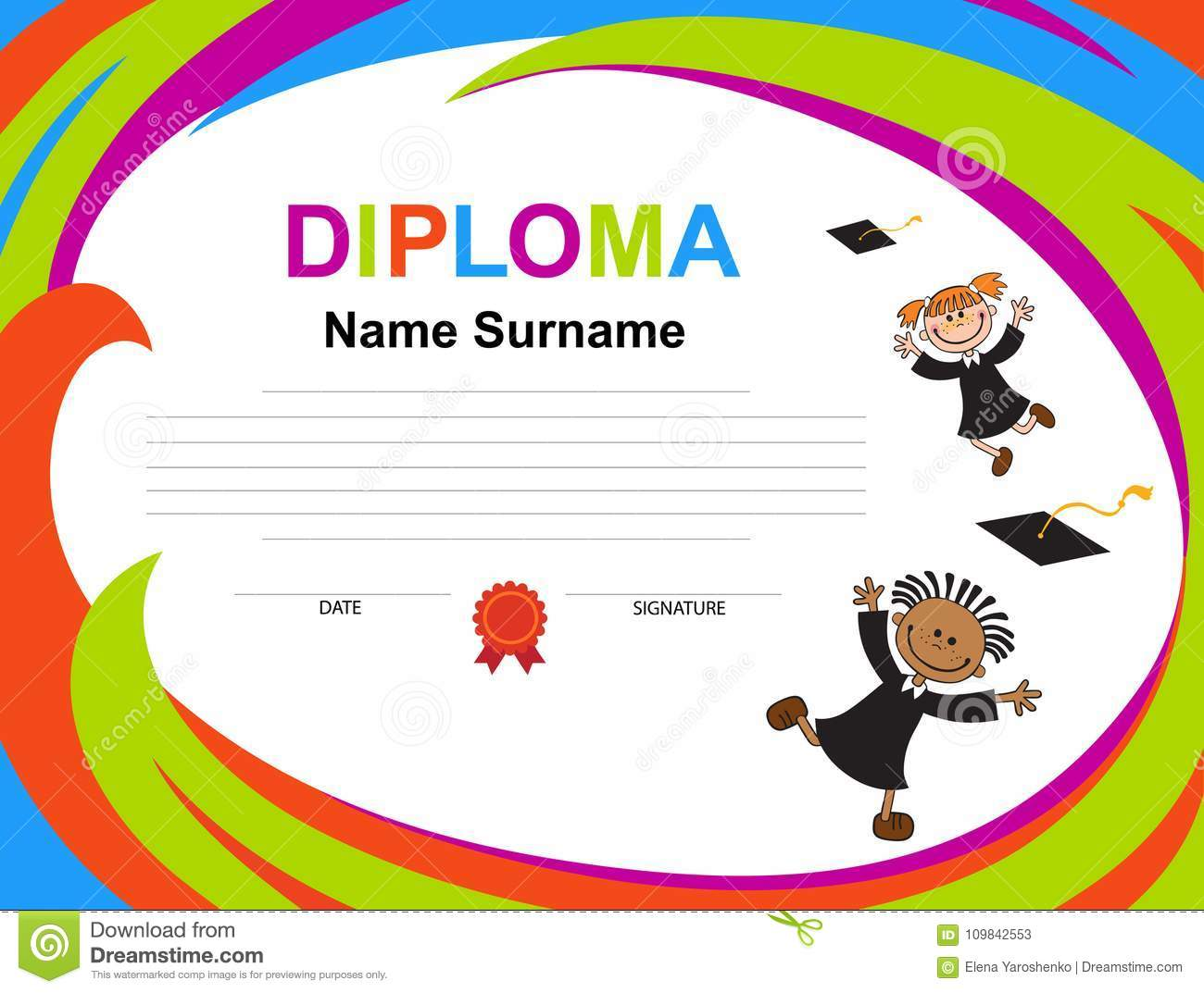 Name Tag Background Design For Boys