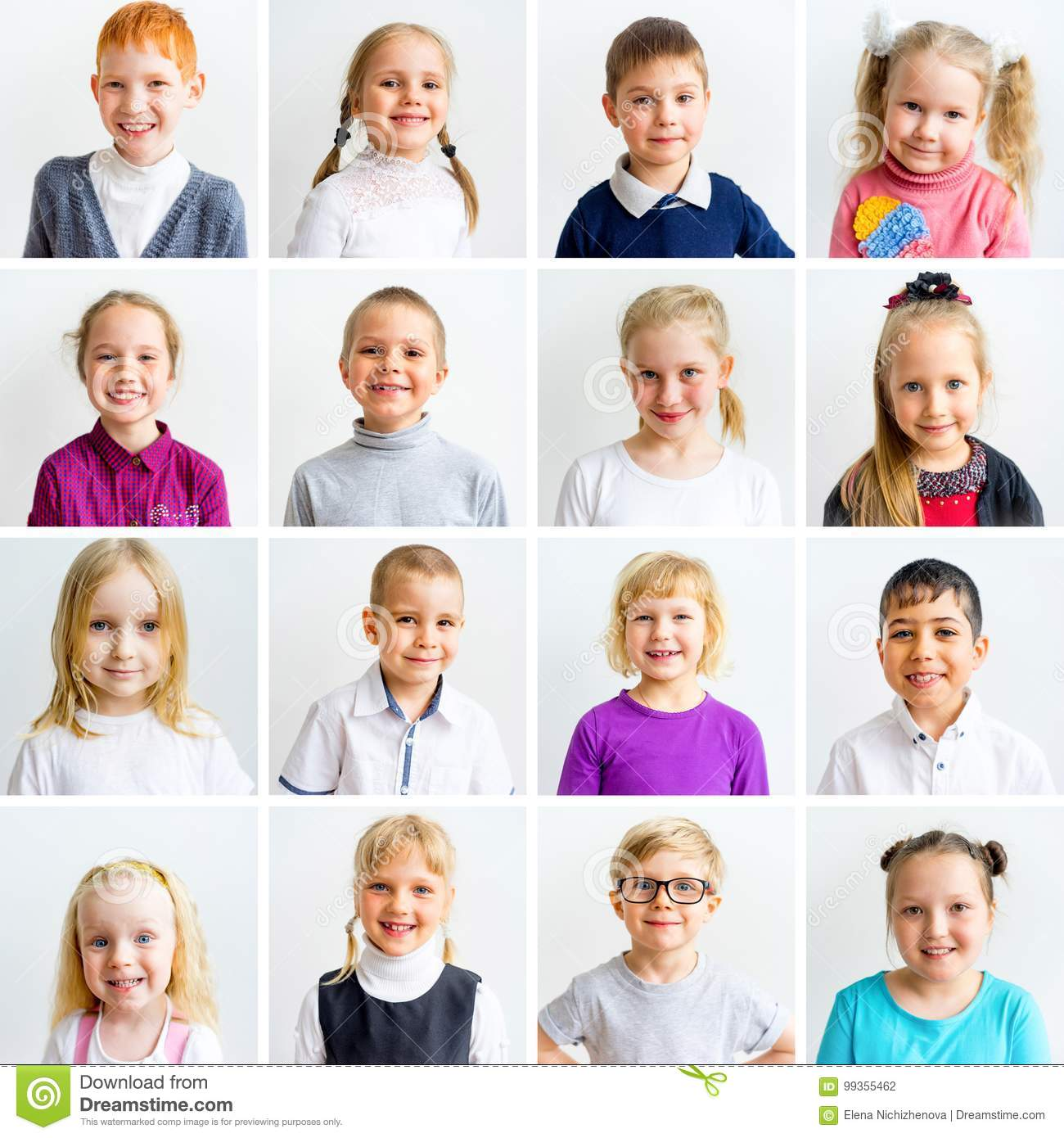 Kids Emotions Collage Stock Photo Image Of Caucasian