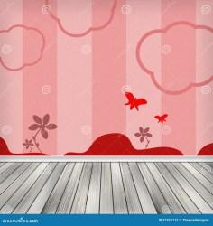 Kids Empty Interior Room Wood Stock Illustration Illustration of floor indoor: 31822112