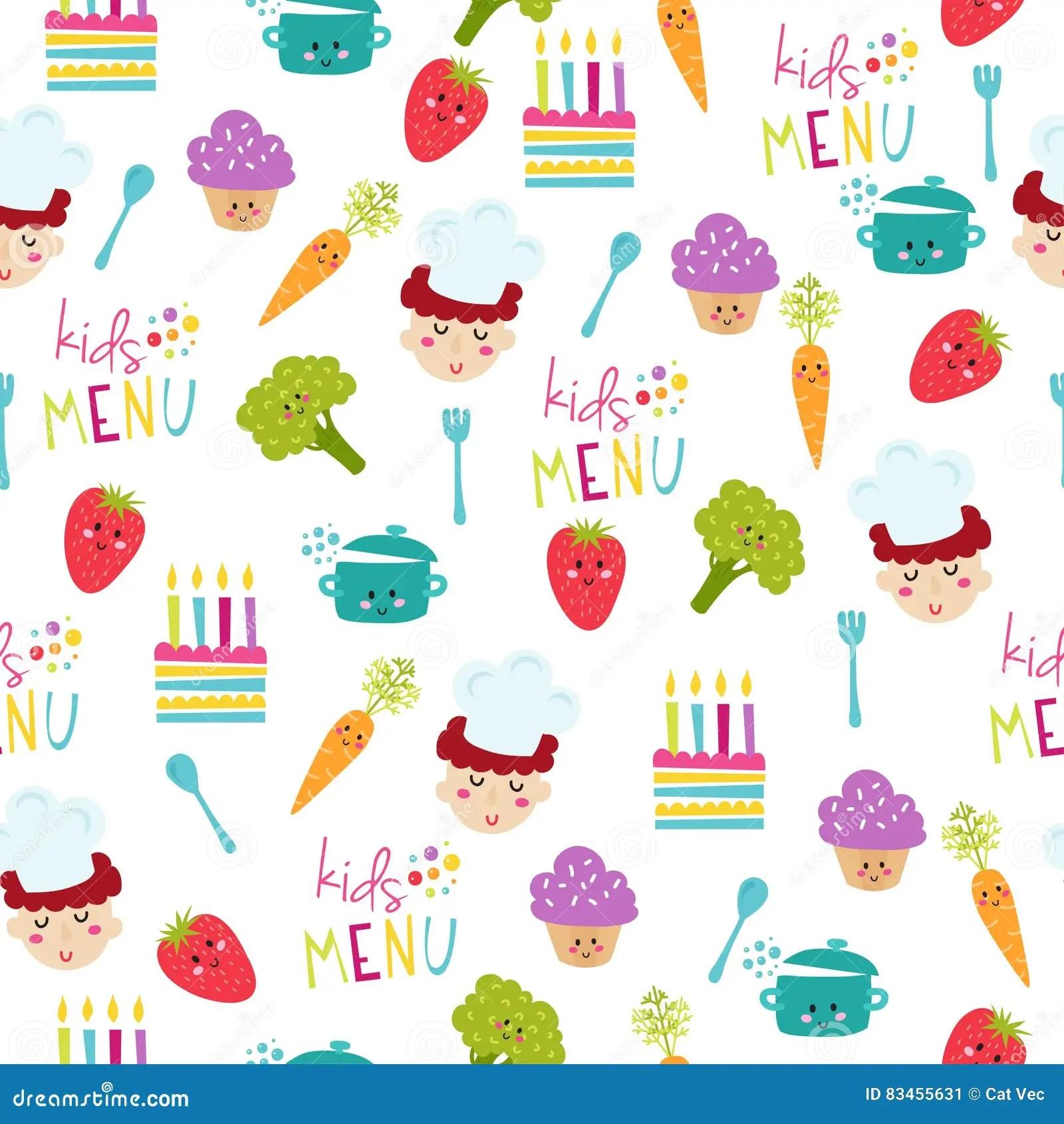 Kids Food Menu Background Vector Illustration Stock Vector - Illustration of healthy. border: 83455631
