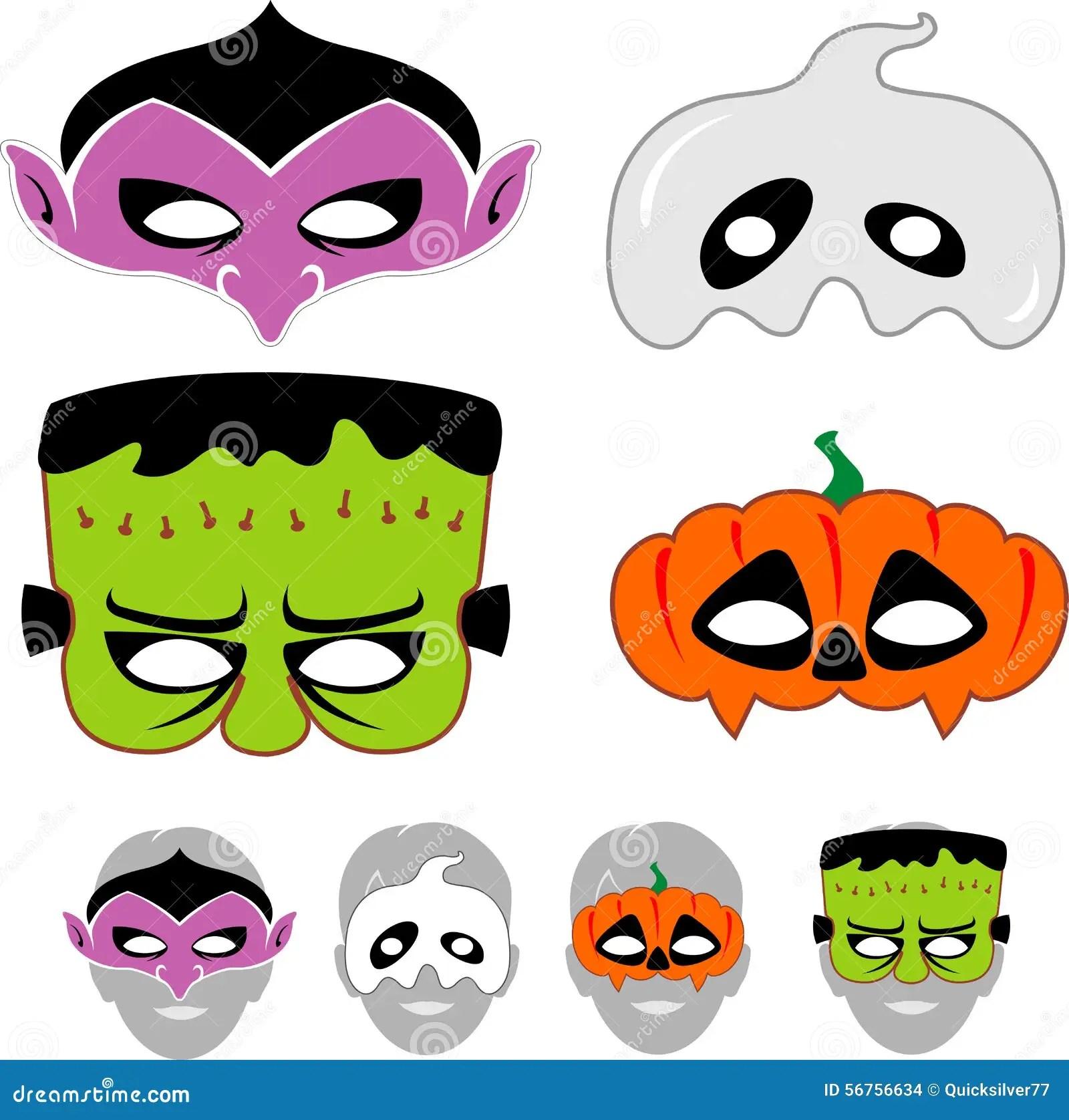 kids halloween masks set
