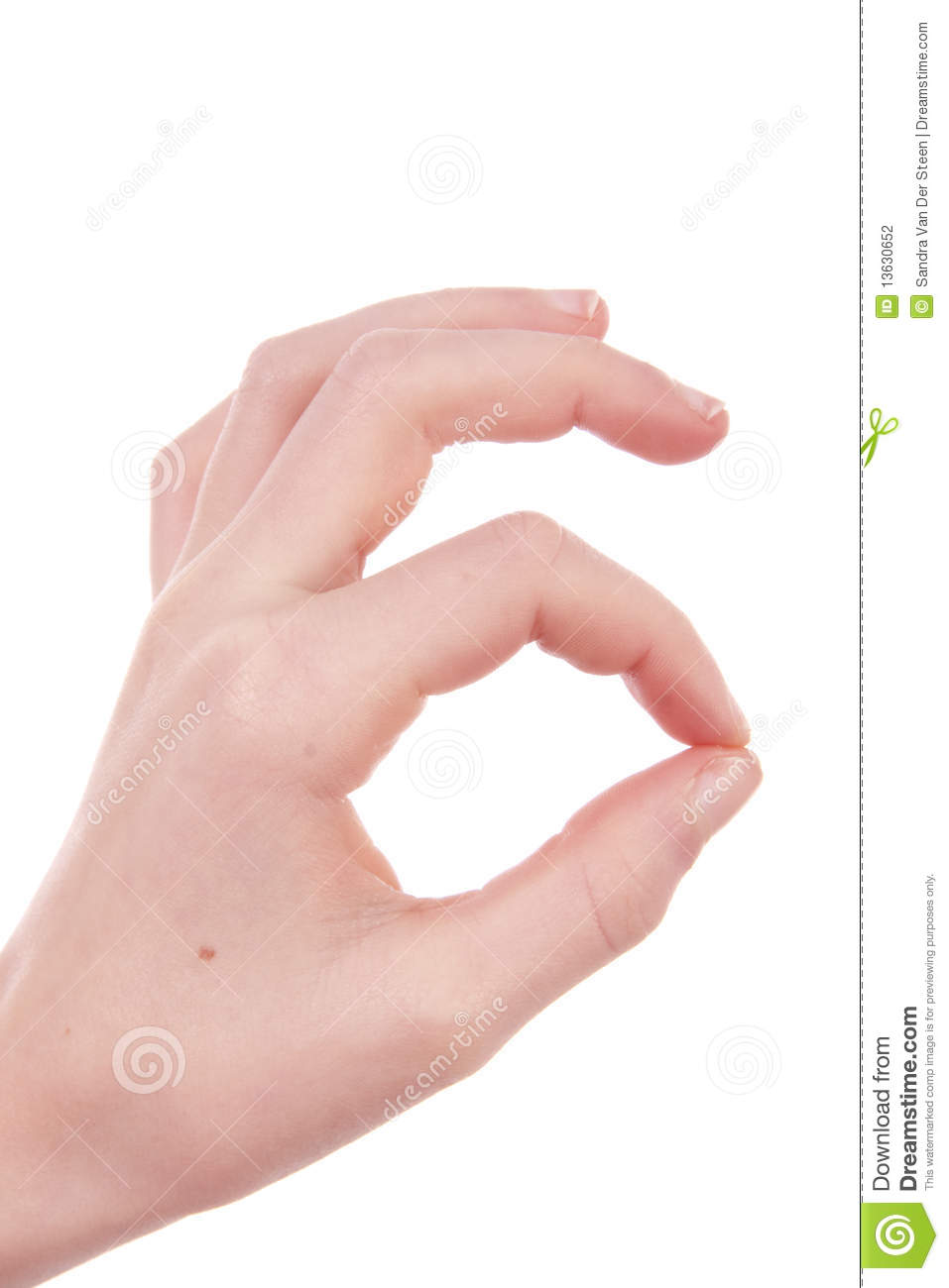 Kids Hand Is Making Ok Sign Stock Photography Image