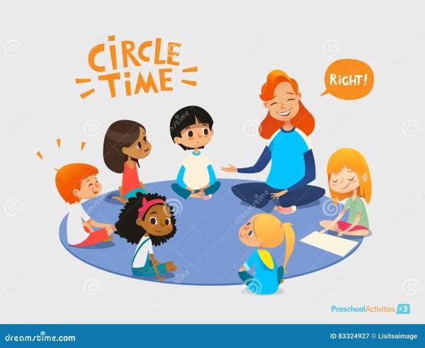 Kids Listen And Talk Friendly Preschool Teacher