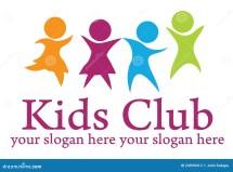 Kids Logo Stock Illustration. Illustration Of Orange