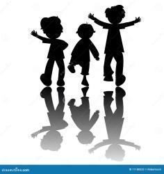 silhouettes isolated happy children kinder cartoon boy clipart playing gosses isolement fond blanc freigestellt silhouetten sur sport weiss hintergrund illustrationen