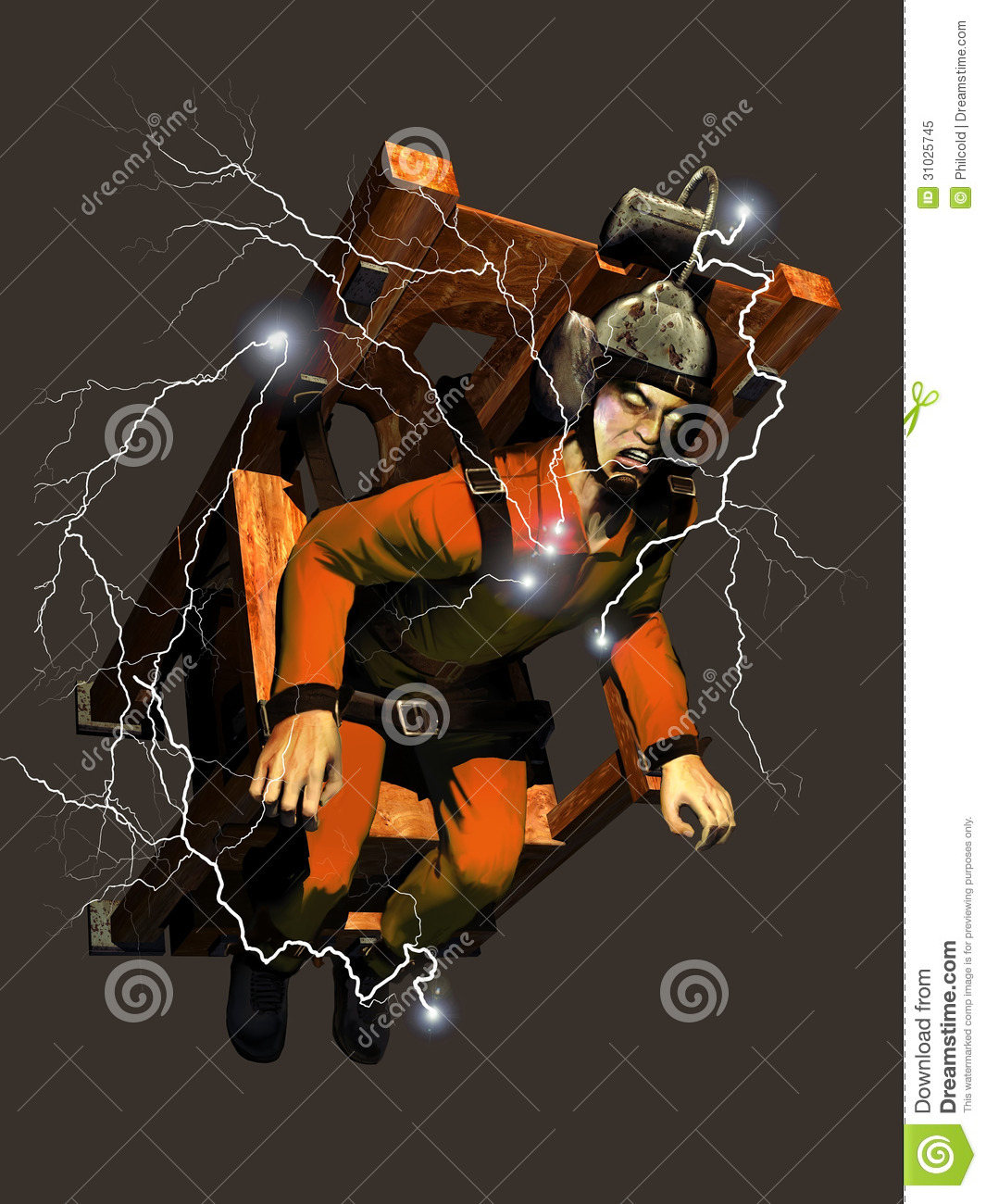 electric chair execution gone wrong squirrel feeder killer stock illustration image of horror