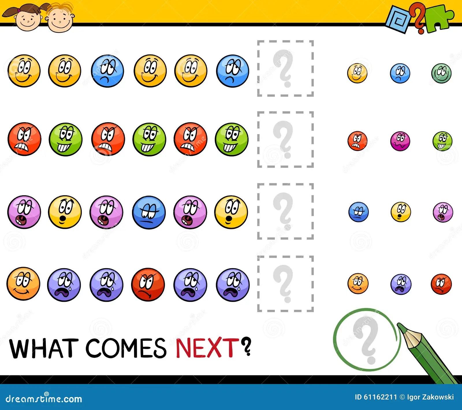 Kindergarten Pattern Task Stock Vector