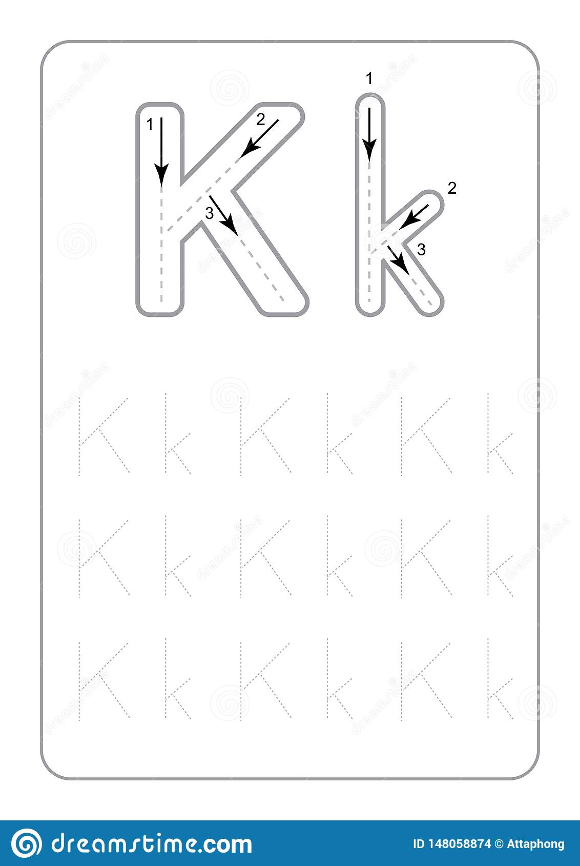 Kindergarten Tracing Letters Worksheets Monochrome Tracing