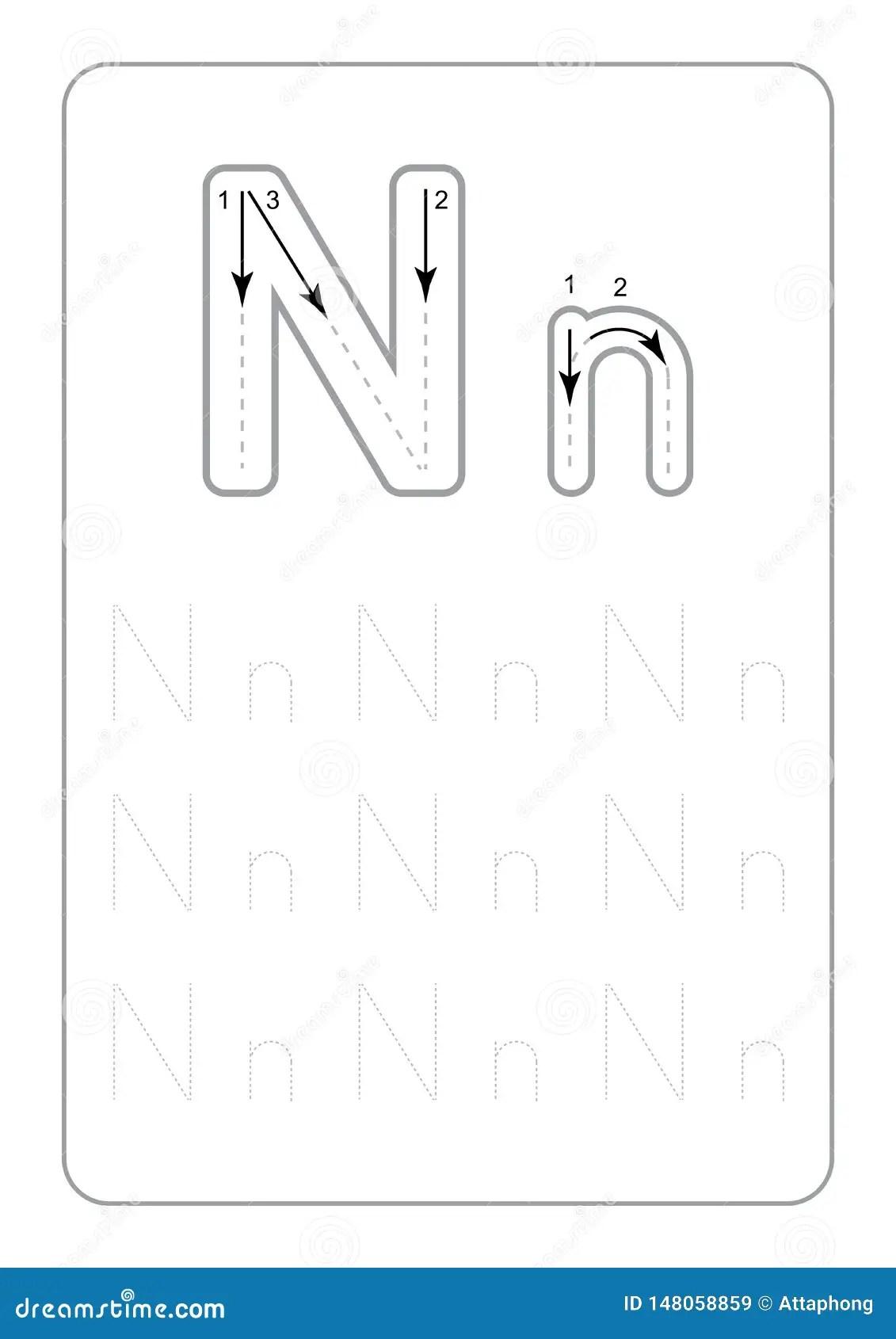 Kindergarten Tracing Letters Worksheets Monochrome Tracing