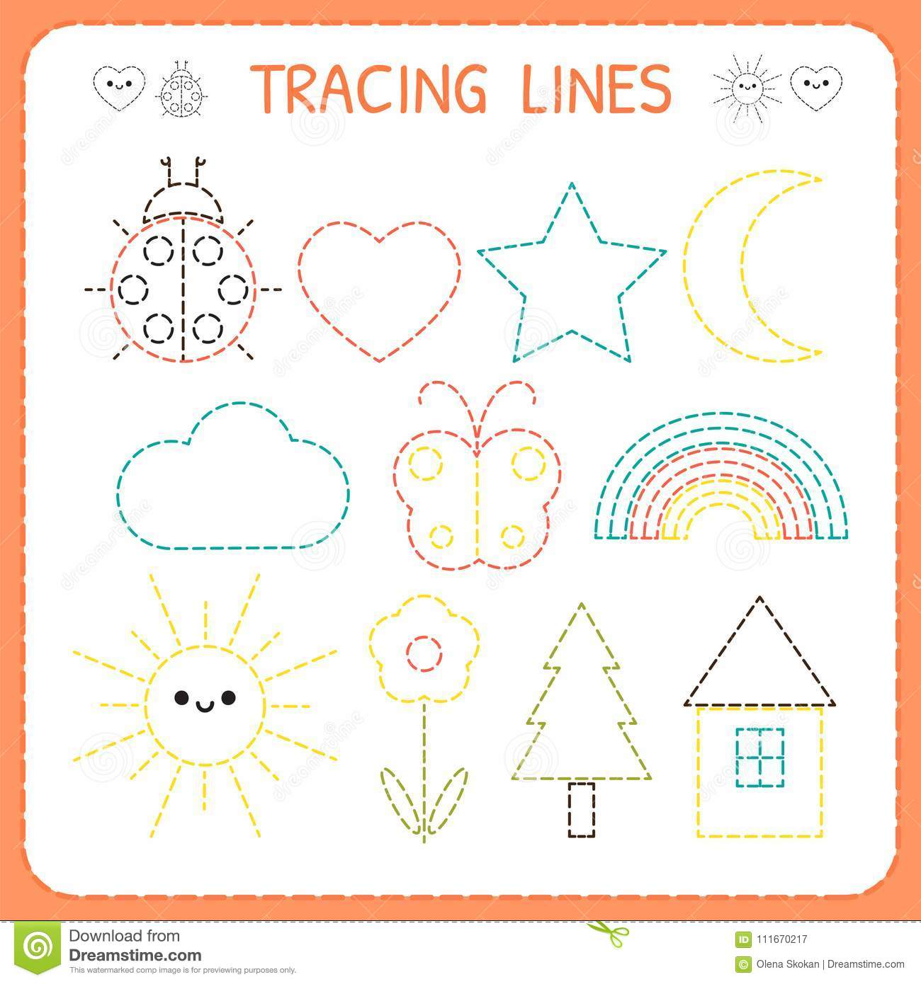 Kindergartens Educational Game For Kids Preschool Tracing