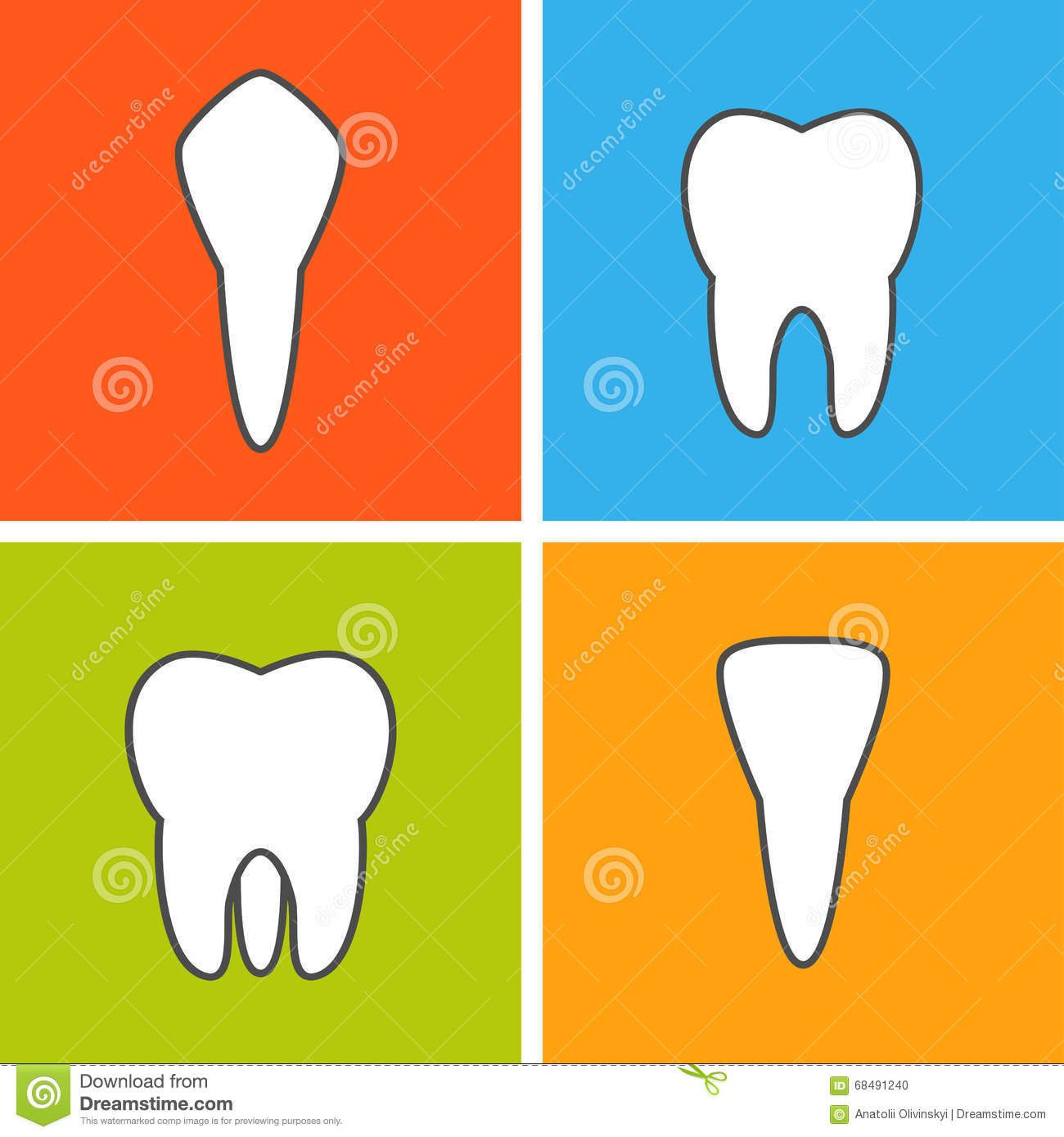 Kinds Of Tooth Stock Illustration Illustration Of