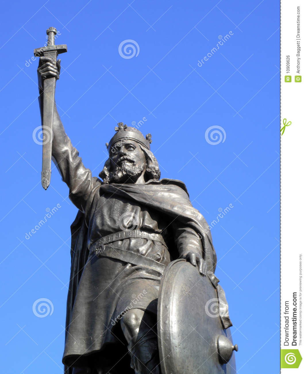 King Alfred The Great Statue Stock Photo