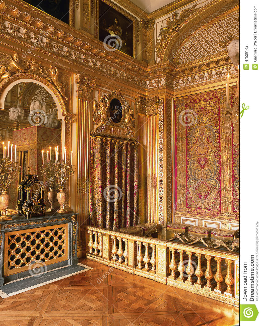 King Louis XIV Bedroom At Versailles Palace France