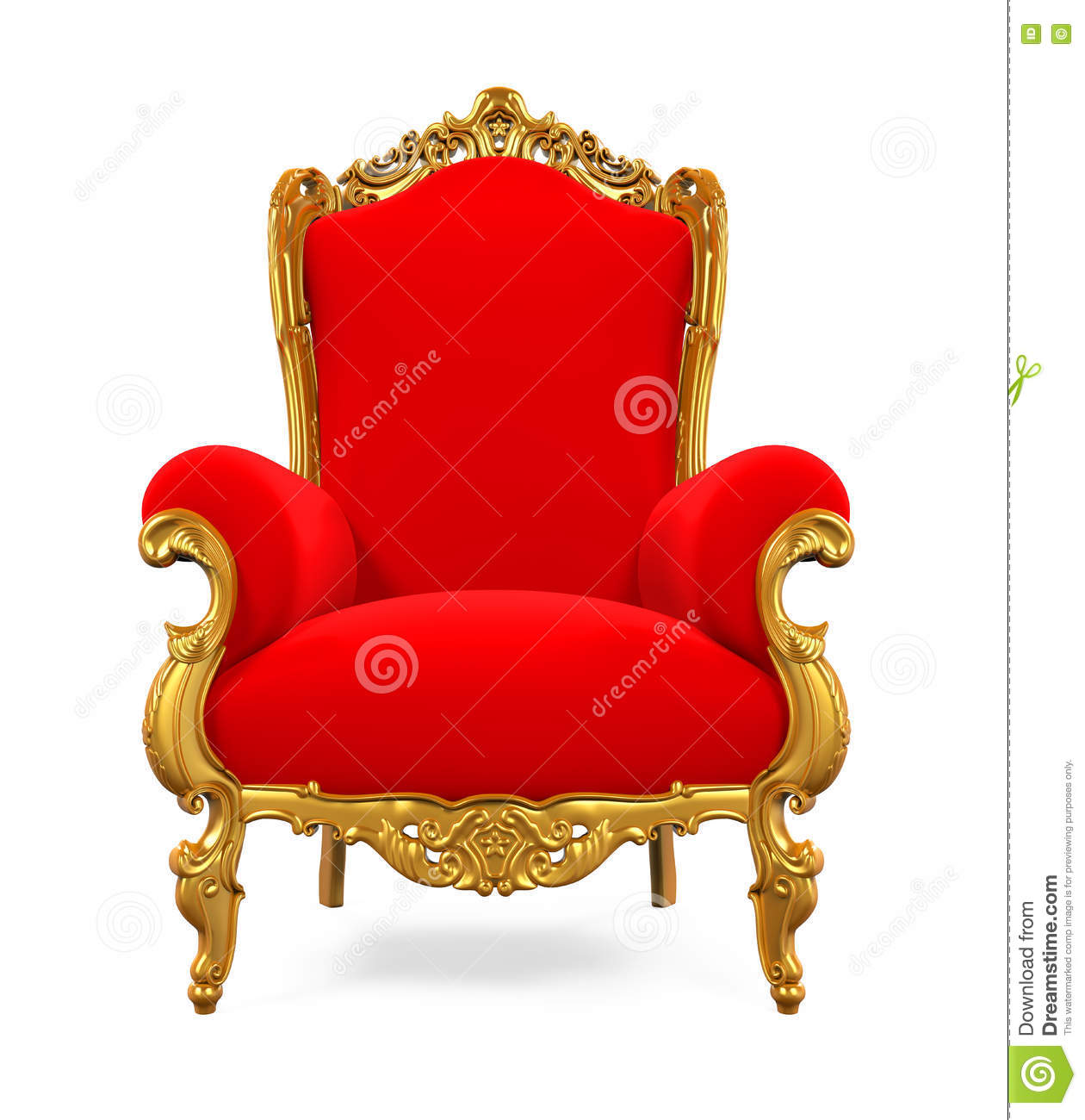 King Chairs King Throne Chair Stock Illustration Illustration Of