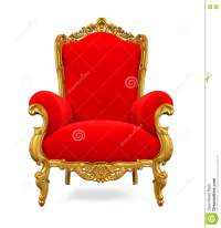 Royal King Red And Golden Throne Chair Isolated Stock ...
