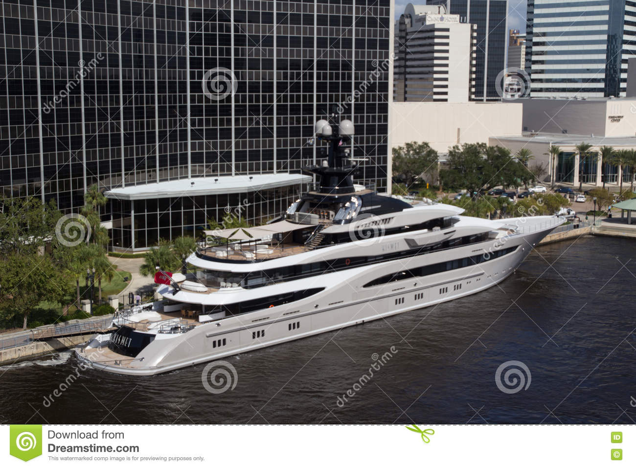 The Kismet Super Yacht Editorial Stock Image Image Of
