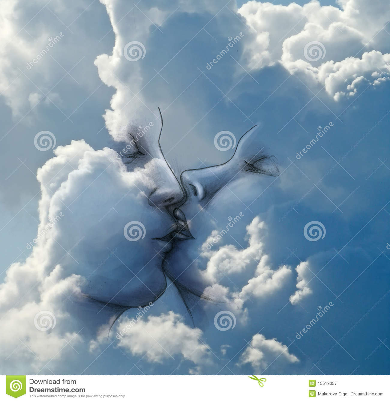 Eagle Nebula Hd Wallpaper Kiss In The Clouds Royalty Free Stock Photography Image