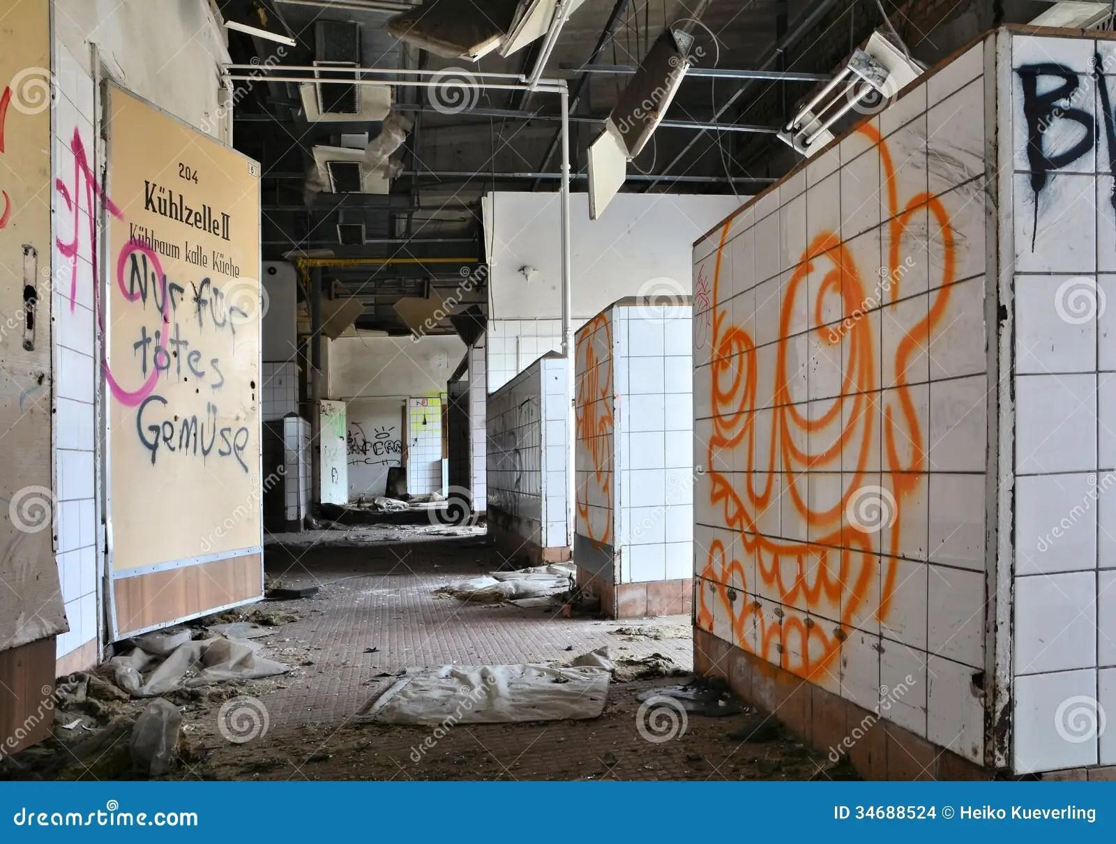 Kitchen In An Abandoned Restaurant Stock Photo  Image of danger glazed 34688524