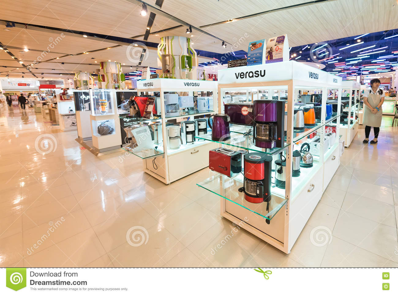 kitchen appliance store copper accessories appliances at siam paragon mall bangkok editorial photo march 17 2016 various a household in it is one of the biggest shopping centres asia