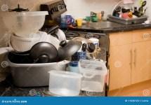 Kitchen Dirty Mess Washing- Stock - 11636123