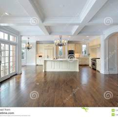 Kitchen Appliance Cabinet Table And Bench Family Room Stock Image. Image Of Counter ...