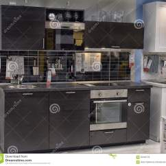 Kitchen Furniture Store Pantry Cabinet Ikea In Editorial Photo Image Of