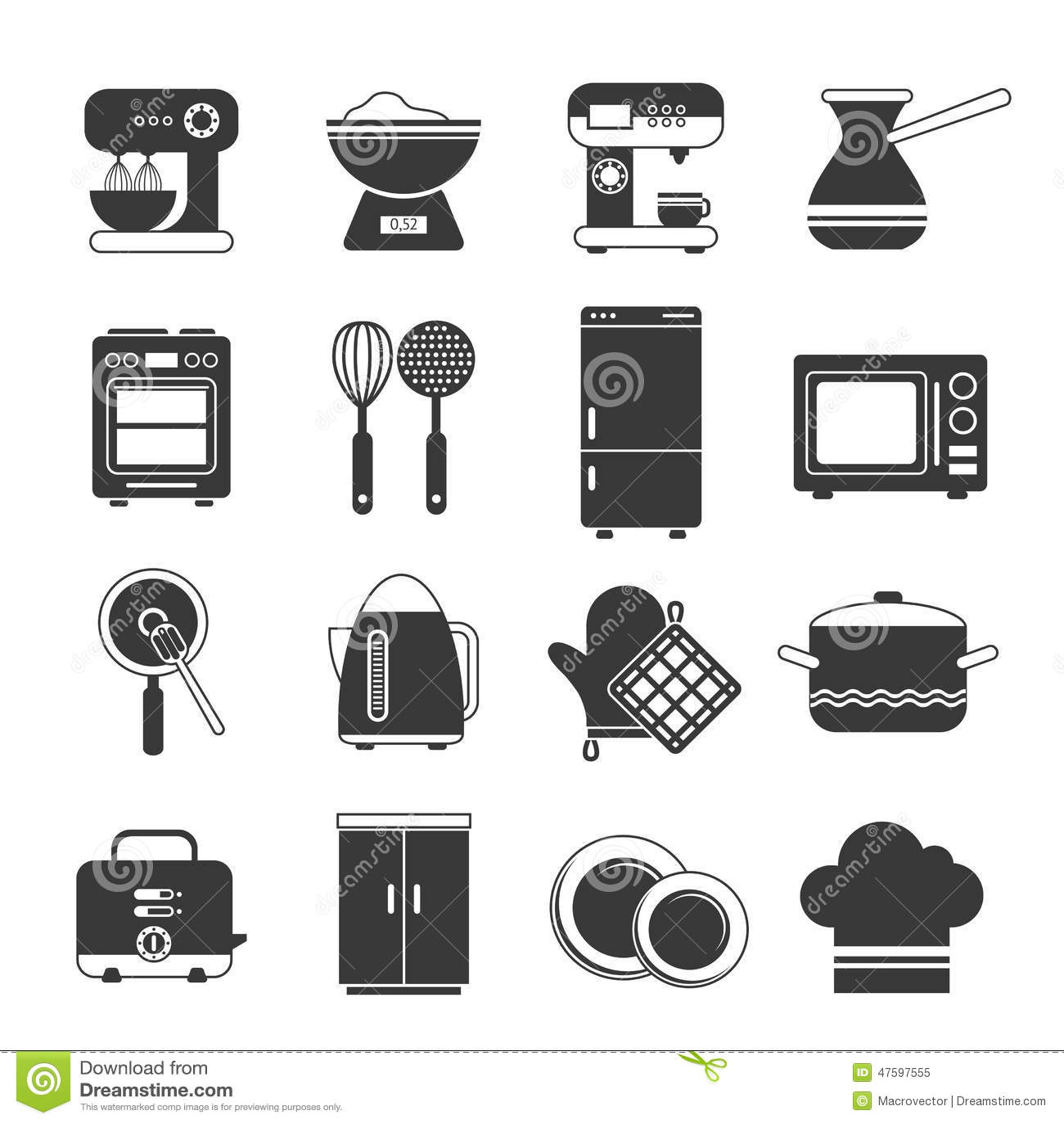 vector black fridge stock photography