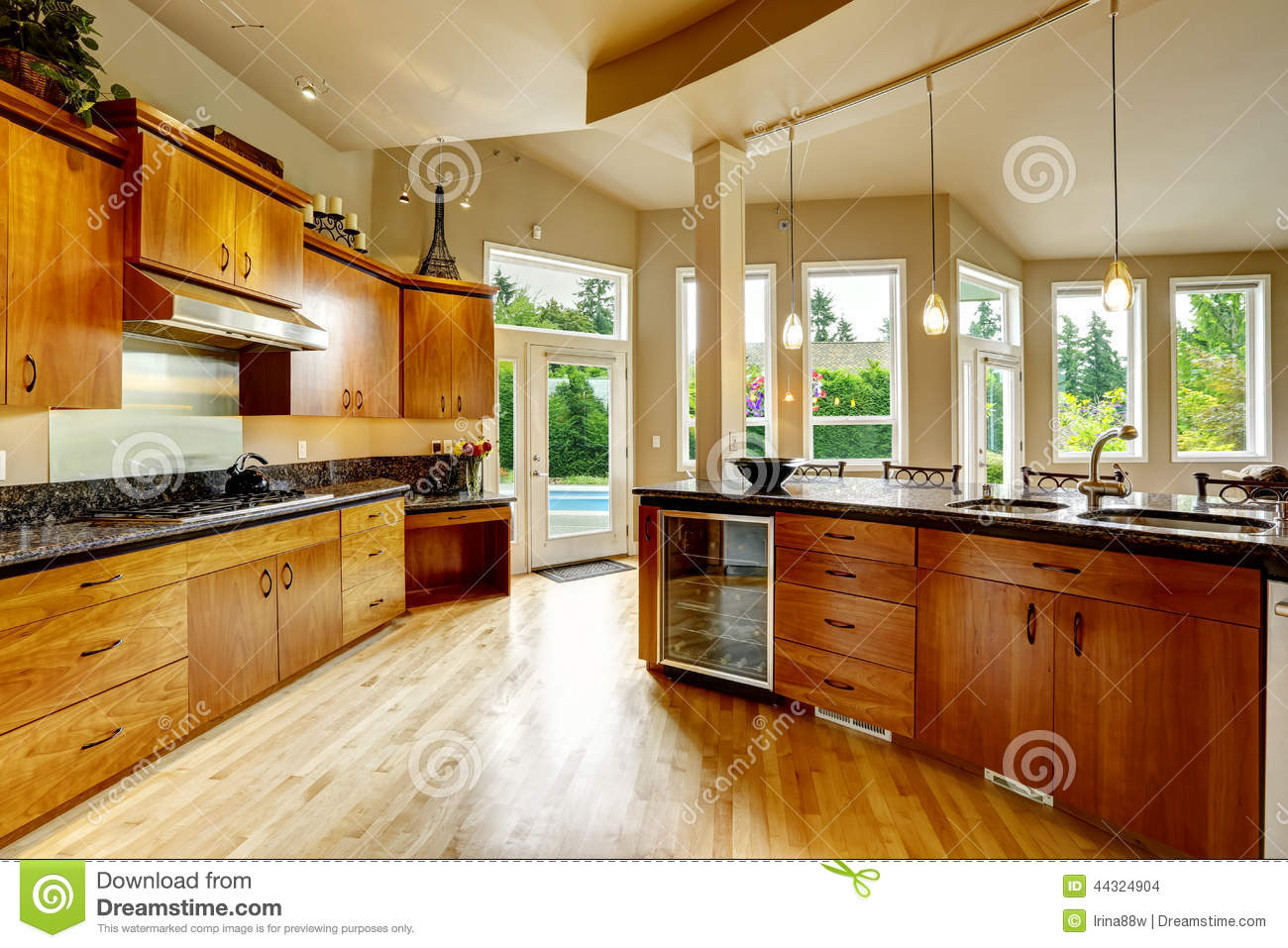 Kitchen Interior In Luxury House Real Estate In WA Stock Photo  Image 44324904