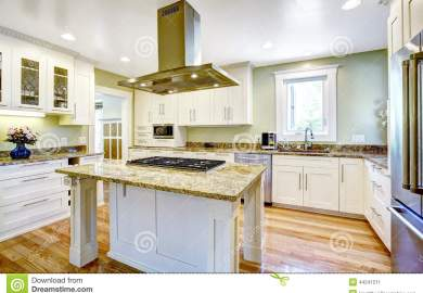 Kitchen Stove Top Island Stock Photos Images Pictures