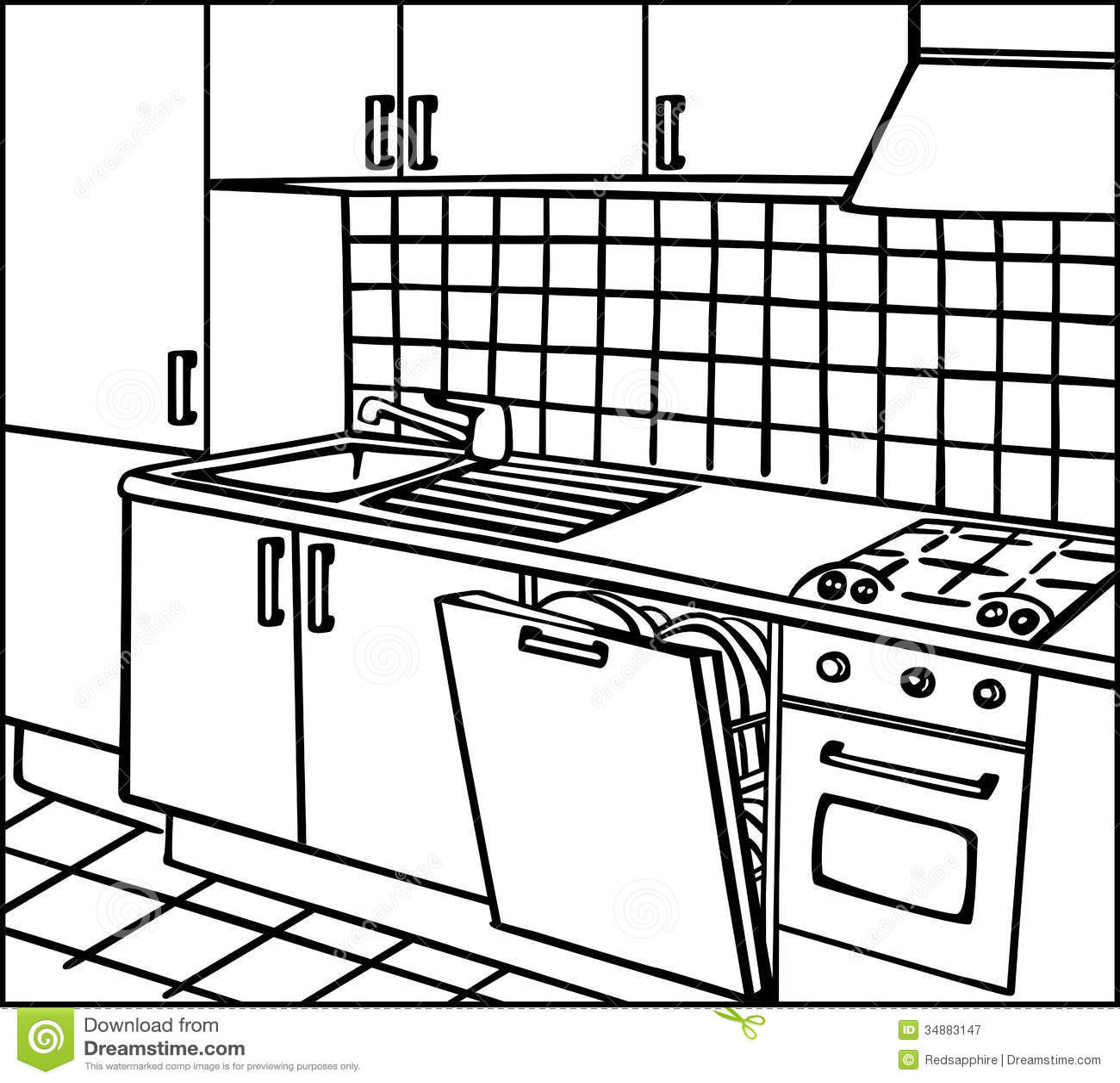Kitchen Stock Illustration Illustration Of Floor Home