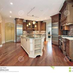 How To Decorate Living Room Area Rugs For Kitchen With L-shaped Island Stock Photo - Image: 12408256