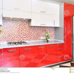Kitchen Cabinet Plans Outdoor Red And White Royalty Free Stock Photo - Image ...