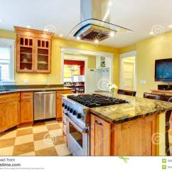 Kitchen Island Prices Large Clocks Room With Tv Stock Photo - Image: 39901079
