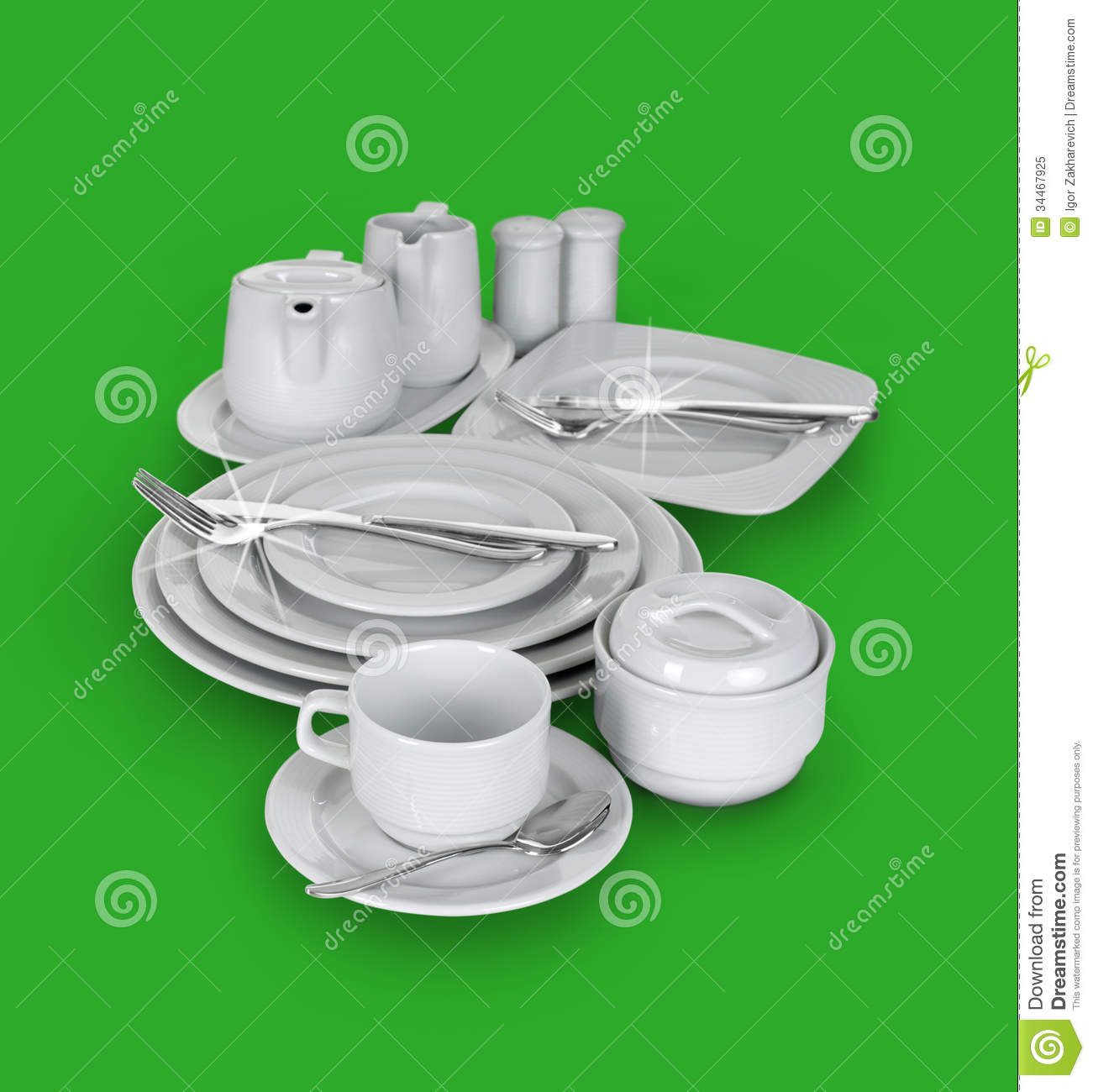 kitchen cups and plates lights under cabinets set of glasses royalty free stock