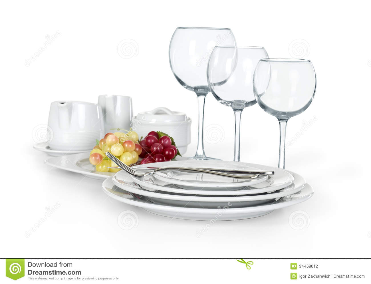 kitchen cups and plates chicago remodeling set of jars stock photography