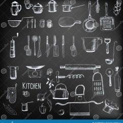 Kitchen Scales Macys Table Set Stock Vector. Illustration Of Frying, Mixer ...