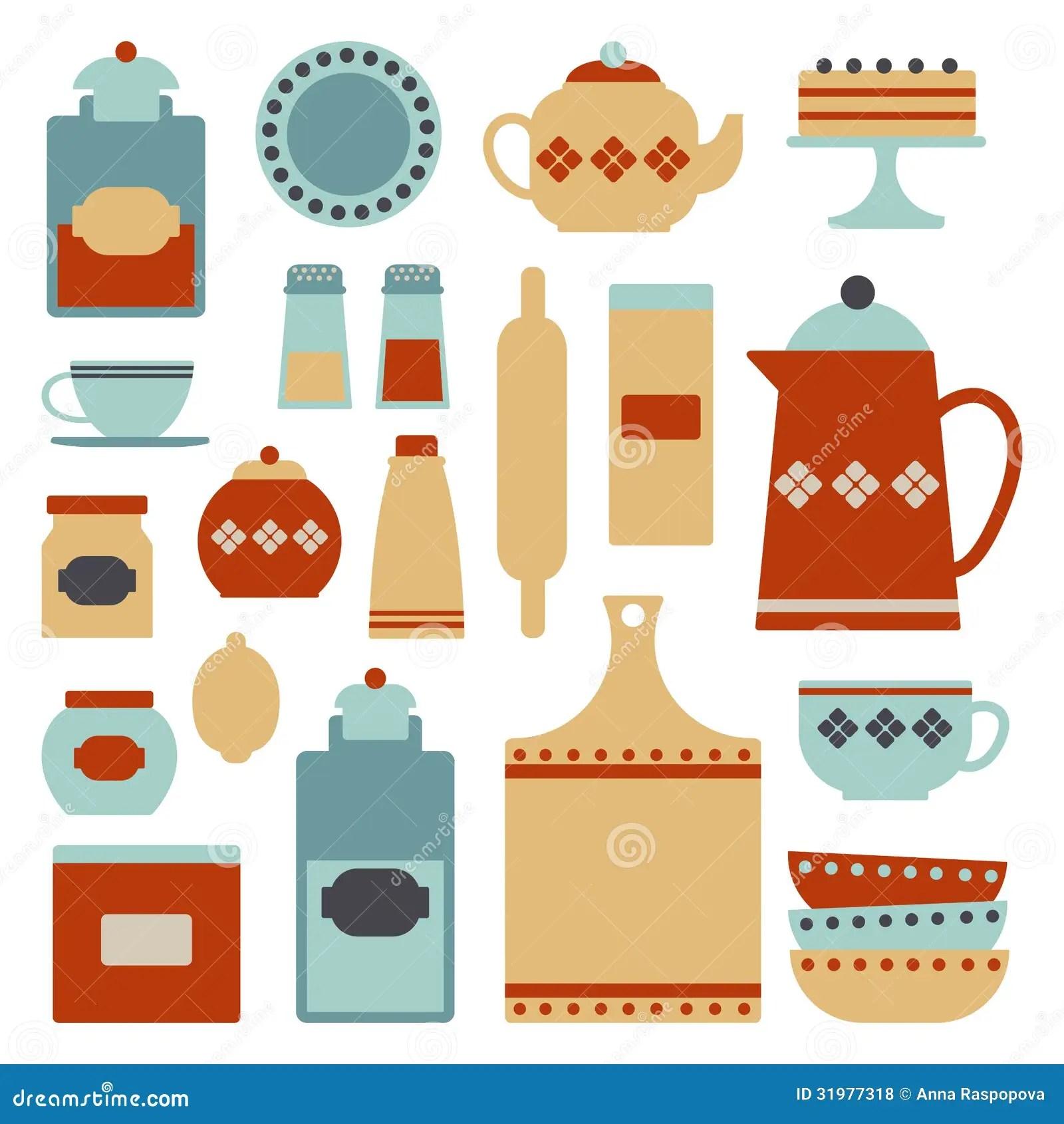 Kitchen Set Stock Vector Illustration Of Accessory